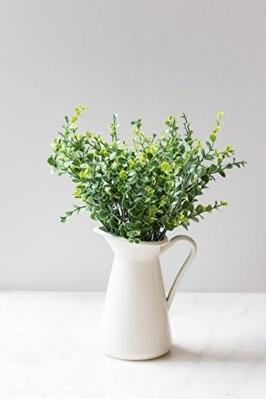 Arma House Yeşil Şimşir Yapay Çiçek Renkli
